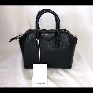 Givenchy Antigona Mini in Sugar Black Leather